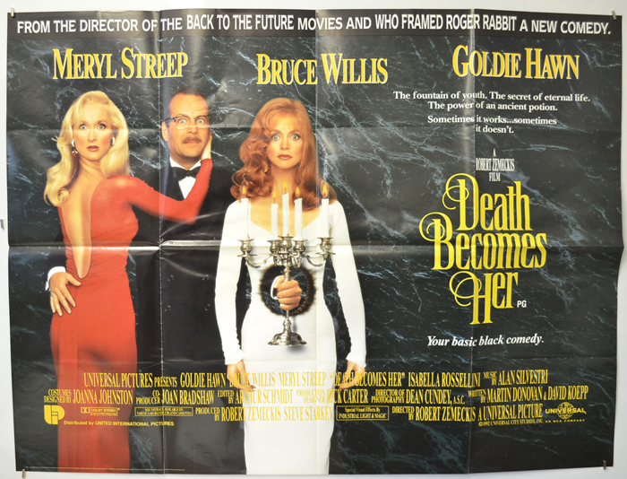 Death Becomes Her - Original Cinema Movie Poster From pastposters ...