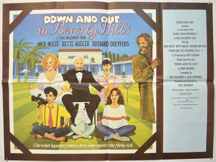 Down And Out In Beverly Hills - Original Cinema Movie Poster From ...