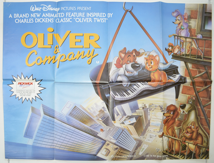 Oliver And Company - Original Cinema Movie Poster From pastposters ...