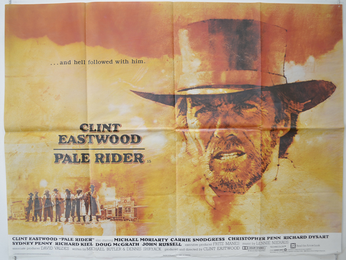 Pale Rider - Original Cinema Movie Poster From pastposters.com ...