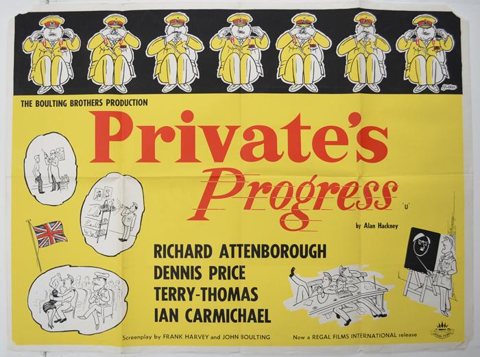 Private's Progress <p><i> (1960's Regal Films re-release poster ...