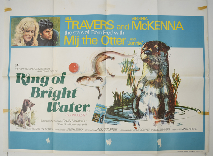 Ring Of Bright Water - Original Cinema Movie Poster From ...