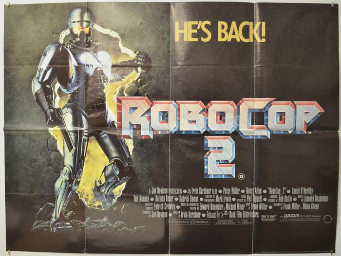 Robocop 2 - Original Cinema Movie Poster From pastposters.com ...
