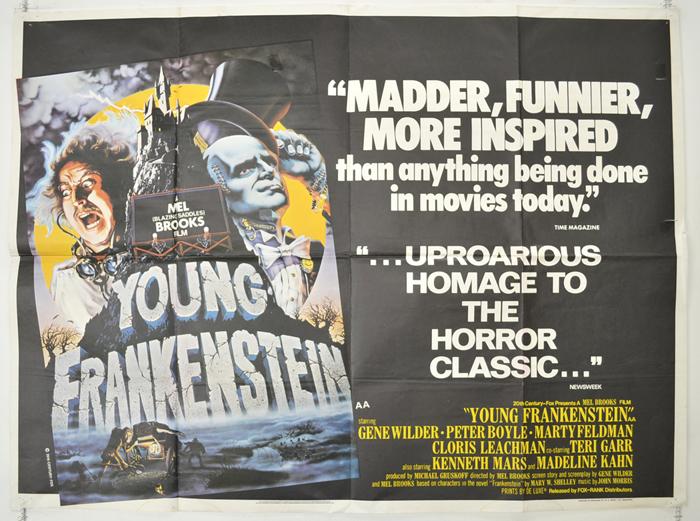 Young Frankenstein - Original Cinema Movie Poster From pastposters ...