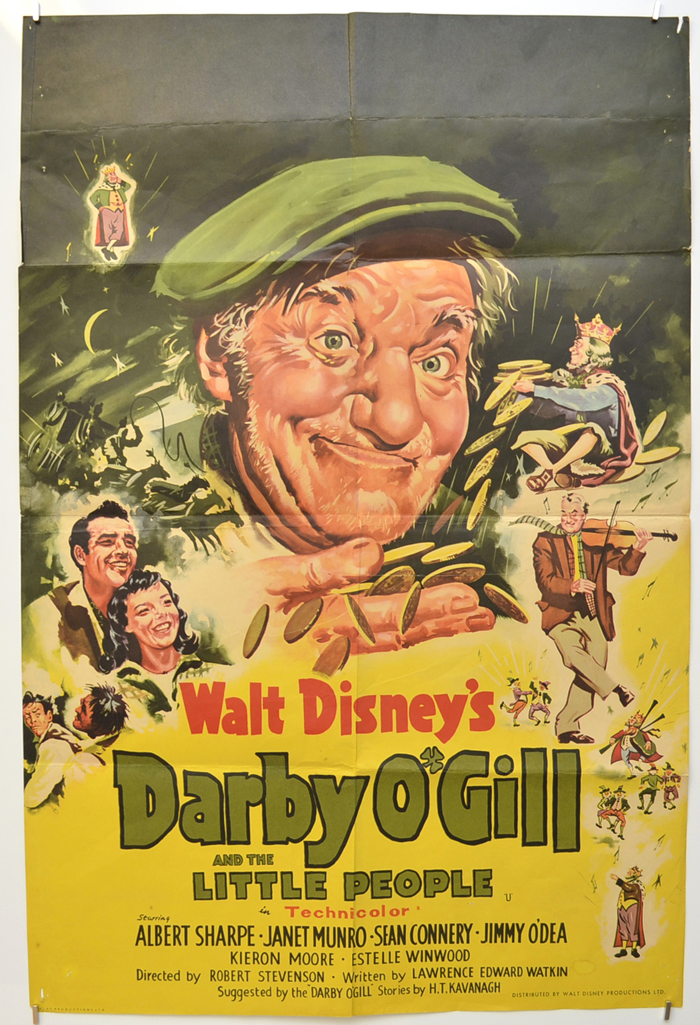 Sean Connery movie poster print Darby O/'Gill and the Little People 1959