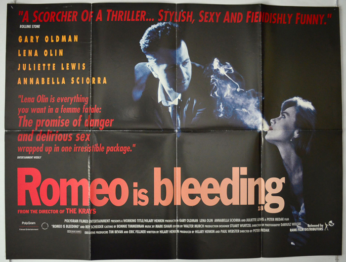 Details about  /Romeo is Bleeding FRIDGE MAGNET movie poster