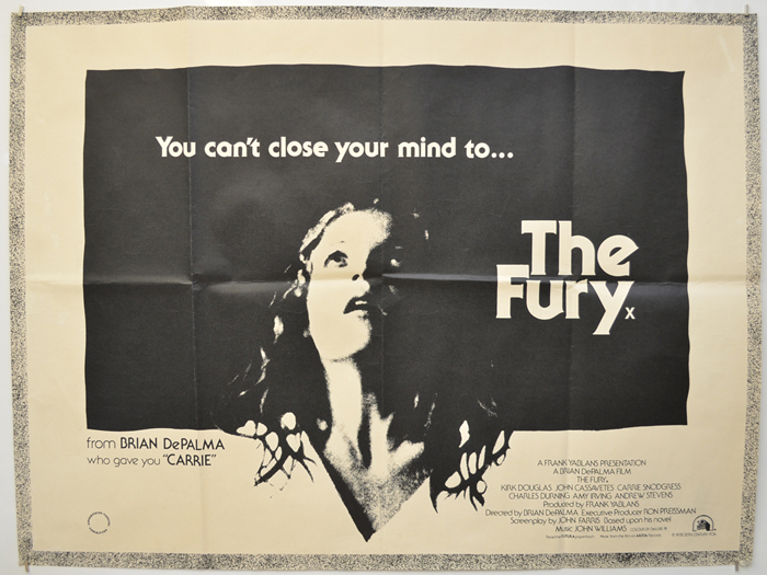 Fury (The) - Original Cinema Movie Poster From pastposters.com British Quad  Posters and US 1-Sheet Posters