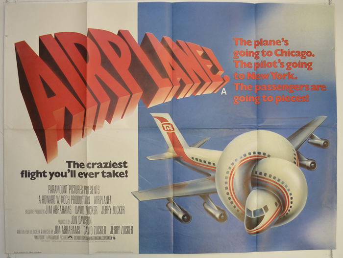 Airplane - Original Cinema Movie Poster From pastposters.com ...