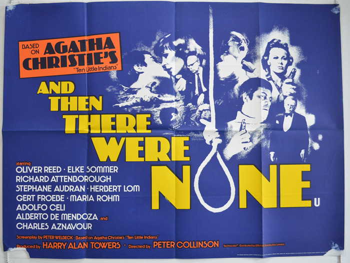 And Then There Were None - Original Cinema Movie Poster From ...