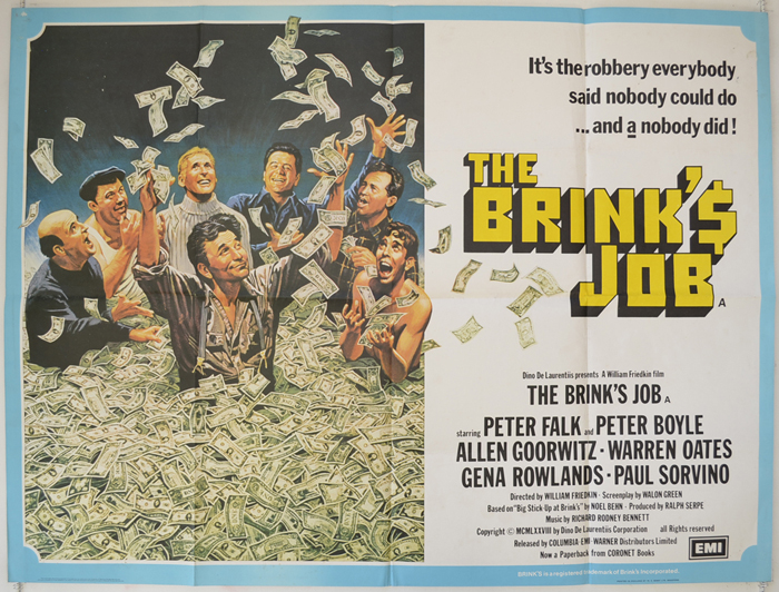 Brink's Job (The) - Original Cinema Movie Poster From pastposters ...