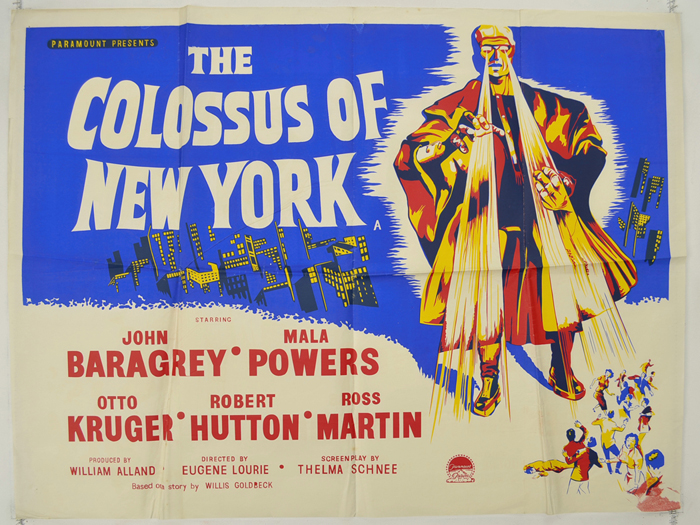Colossus Of New York <p><i> (1960's release poster) </i></p>