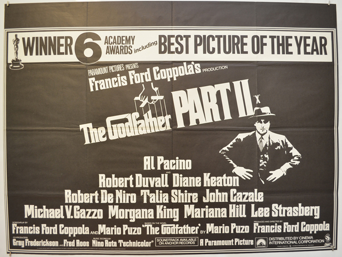 Godfather Part II (The) - Original Cinema Movie Poster From ...