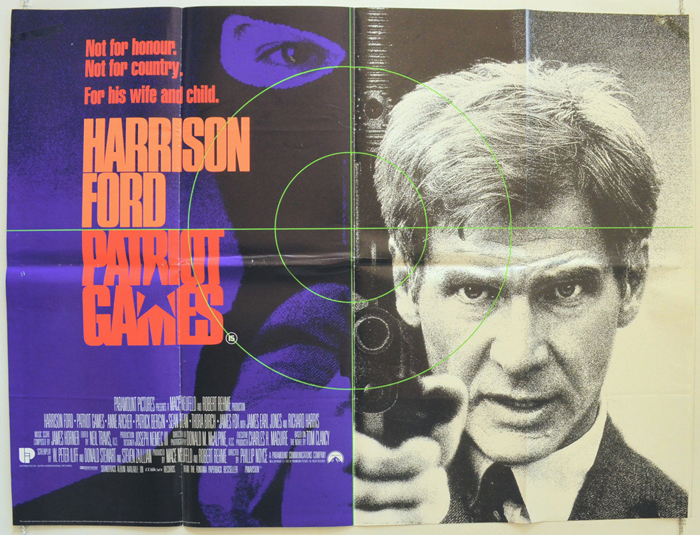 Patriot Games - Original Cinema Movie Poster From pastposters.com ...