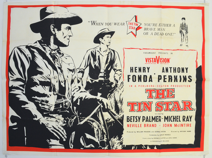 Tin Star (The) - Original Cinema Movie Poster From pastposters.com ...