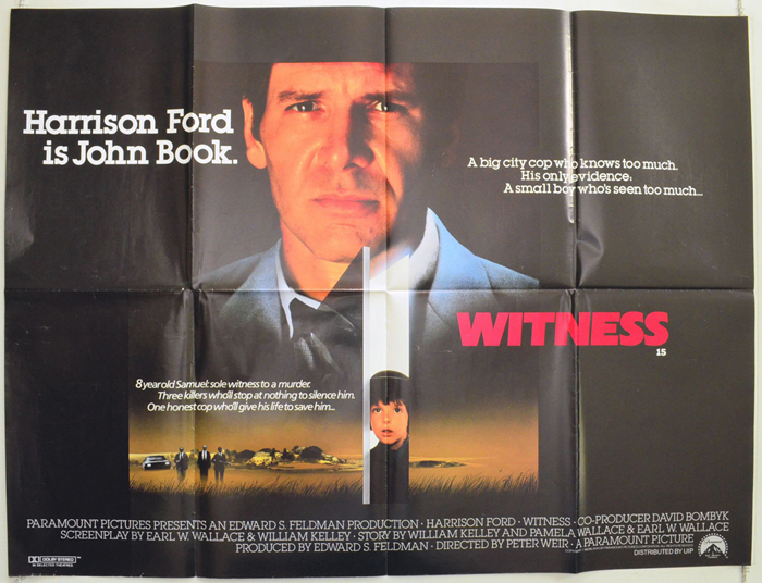 Witness - Original Cinema Movie Poster From pastposters.com ...