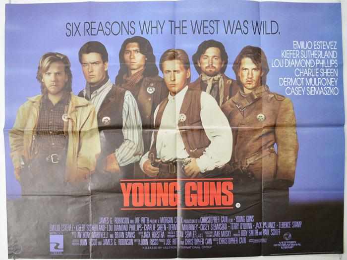 Young Guns - Original Cinema Movie Poster From pastposters.com British Quad  Posters and US 1-Sheet Posters