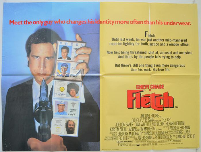 Fletch - Original Cinema Movie Poster From pastposters.com British ...