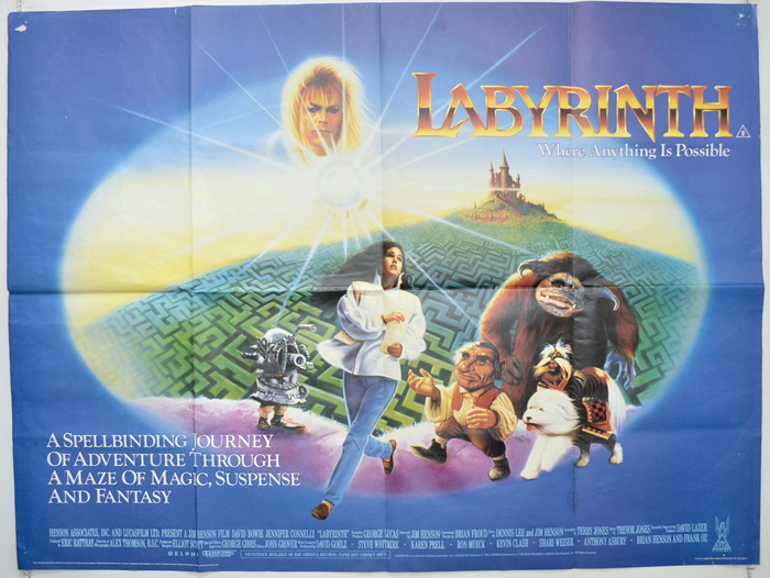 Labyrinth - Original Cinema Movie Poster From pastposters.com ...