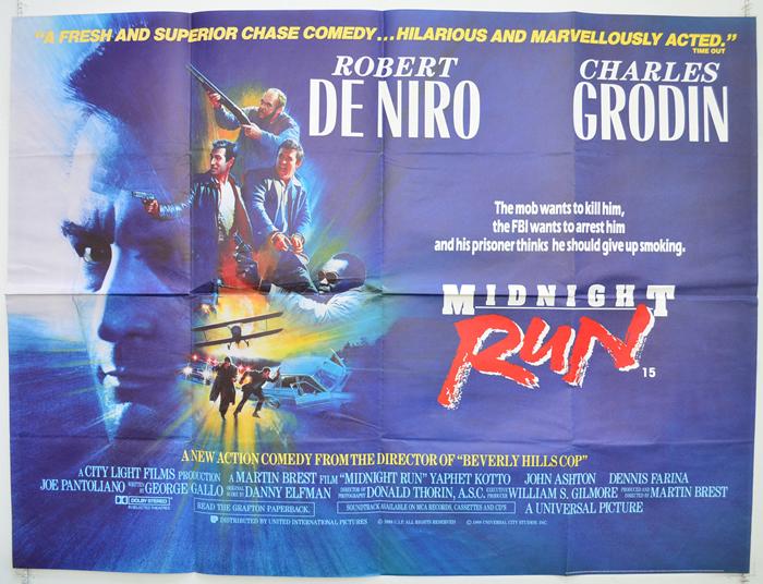 Midnight Run - Original Cinema Movie Poster From pastposters.com ...