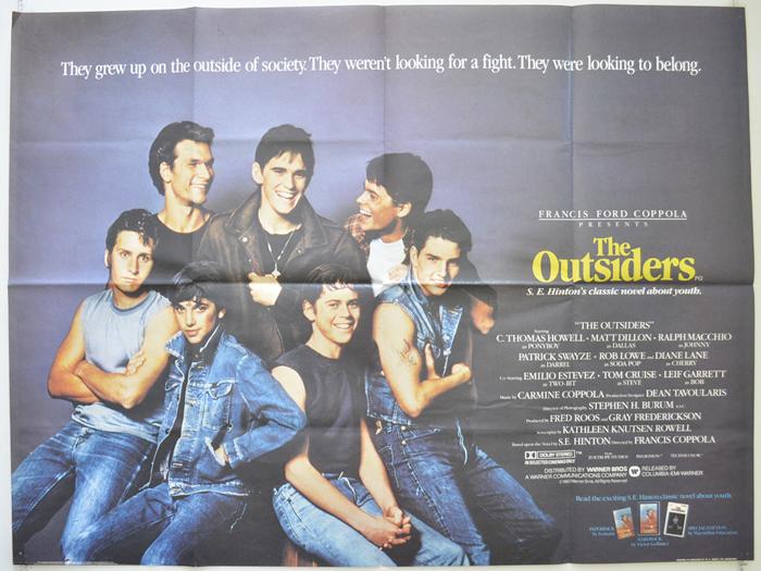 The Outsiders Lobby Card Movie Poster Matt Dillion Tom Cruise Ralph Macchio Rob
