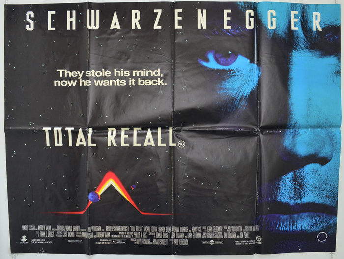 Total Recall - Original Cinema Movie Poster From pastposters.com British  Quad Posters and US 1-Sheet Posters