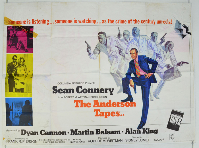 Anderson Tapes (The) - Original Cinema Movie Poster From ...