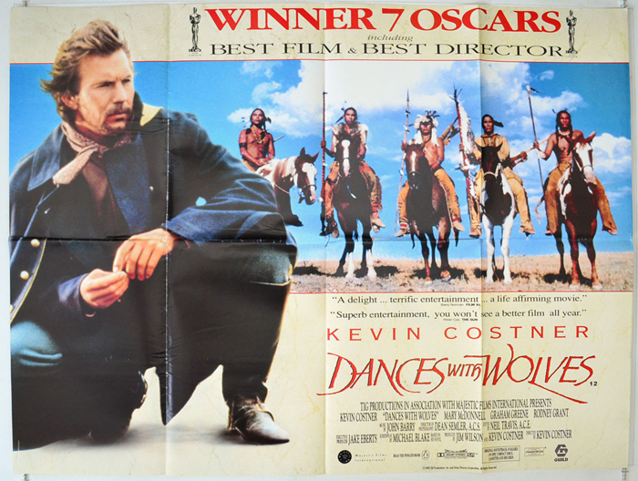 Dances With Wolves - Original Cinema Movie Poster From pastposters ...