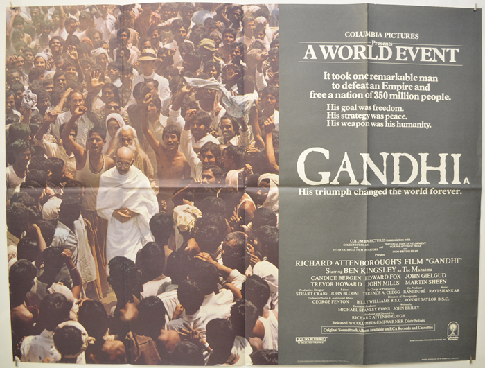 Gandhi - Original Cinema Movie Poster From pastposters.com British ...