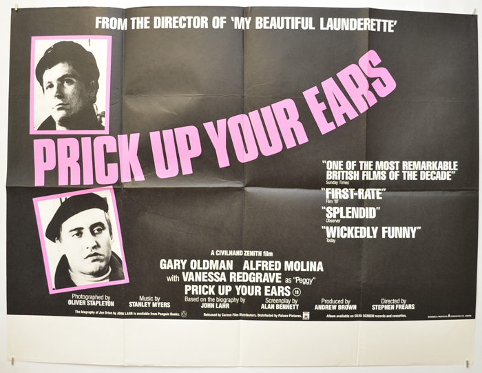 Prick Up Your Ears - Original Cinema Movie Poster From pastposters.com  British Quad Posters and US 1-Sheet Posters
