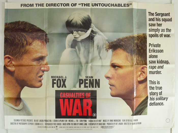 Casualties Of War - Original Cinema Movie Poster From pastposters ...