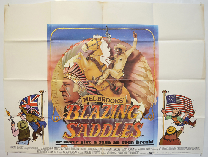 Blazing Saddles - Original Cinema Movie Poster From pastposters.com British  Quad Posters and US 1-Sheet Posters