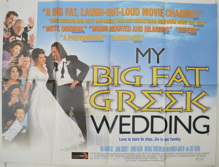 My Big Fat Greek Wedding - Original Cinema Movie Poster ...