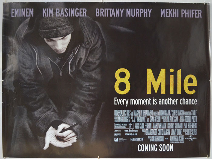 8 Mile - Original Cinema Movie Poster From pastposters.com British Quad  Posters and US 1-Sheet Posters