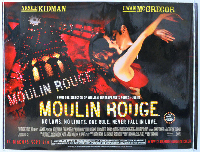 Moulin Rouge - Original Cinema Movie Poster From pastposters.com ...