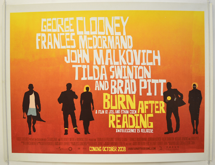 Burn After Reading - Original Cinema Movie Poster From pastposters ...