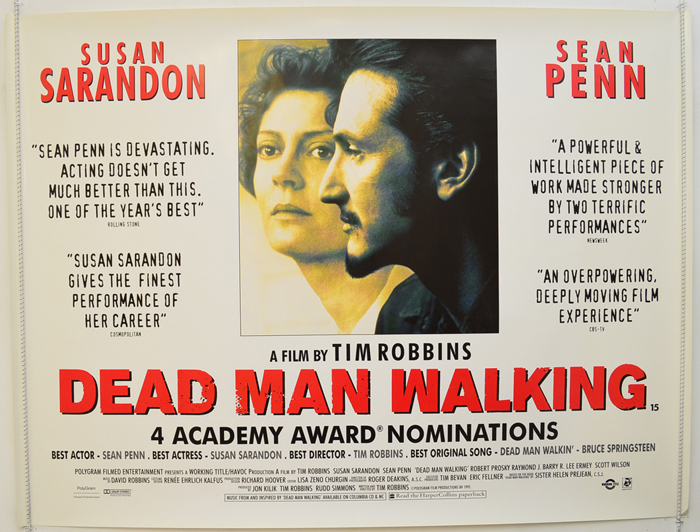 Dead Man Walking - Original Cinema Movie Poster From pastposters.com  British Quad Posters and US 1-Sheet Posters