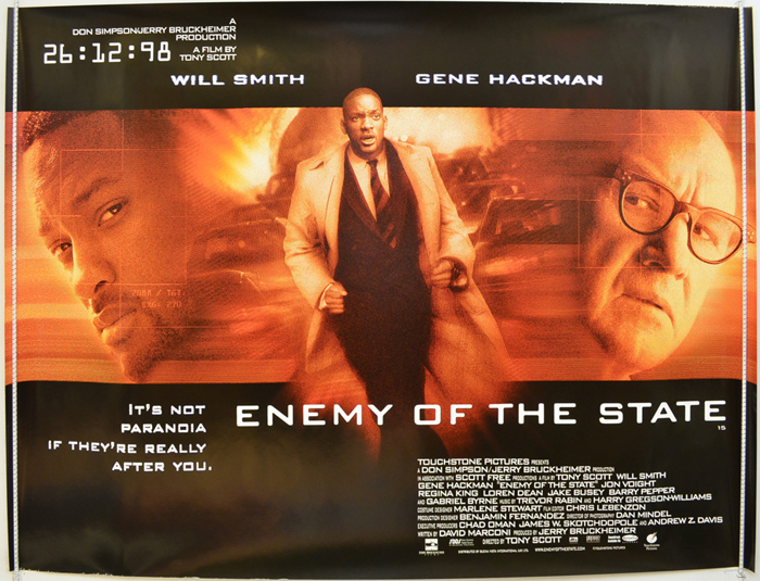 Enemy Of The State Original Cinema Movie Poster From Pastposters Com British Quad Posters And Us 1 Sheet Posters