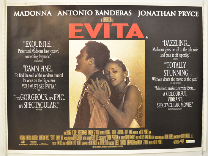 Evita - Original Cinema Movie Poster From pastposters.com British ...