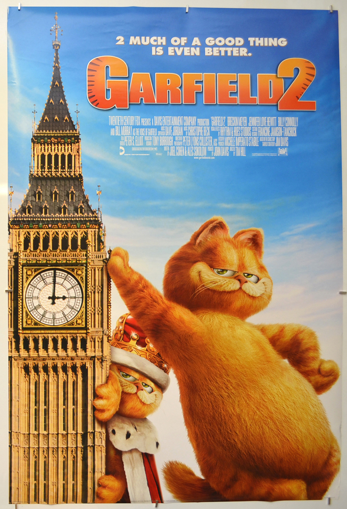 Garfield 2 Original Cinema Movie Poster From Pastposters Com British Quad Posters And Us 1 Sheet Posters
