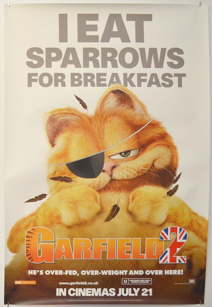 Garfield 2 P I Teaser Advance Version I P Original Cinema Movie Poster From Pastposters Com British Quad Posters And Us 1 Sheet Posters