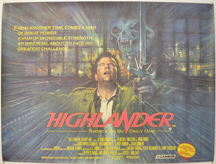 Highlander - Original Cinema Movie Poster From pastposters.com ...