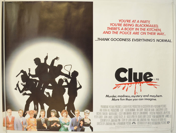 Clue - Original Cinema Movie Poster From pastposters.com British ...