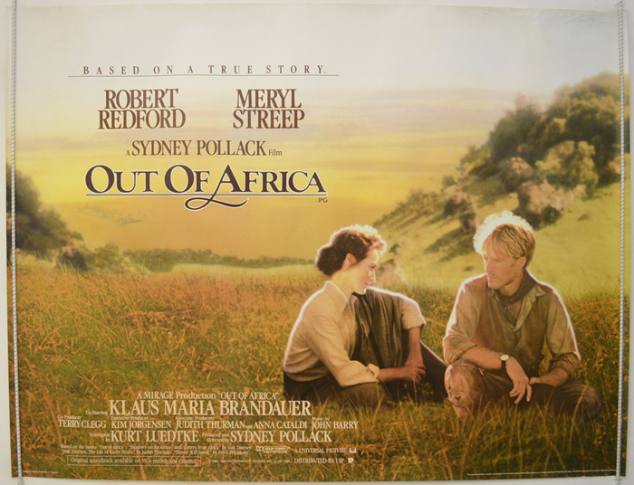 Out Of Africa - Original Cinema Movie Poster From pastposters.com ...