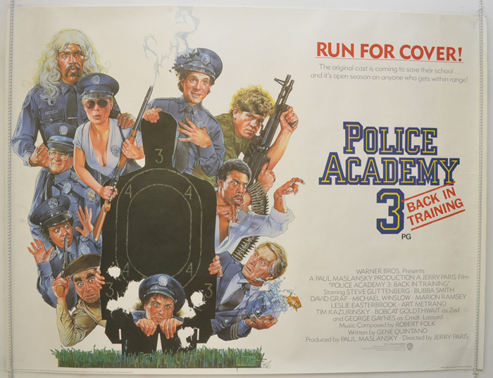 Police Academy 3 : Back In Training - Original Cinema Movie Poster ...