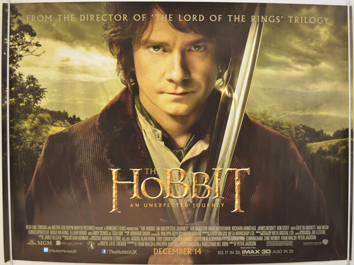 Hobbit : An Unexpected Journey - Original Cinema Movie Poster From ...