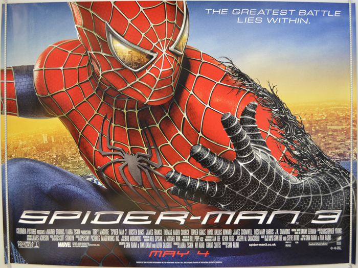 Spider man 3 original cinema movie poster from british quad posters and us 1 - Quad spiderman ...