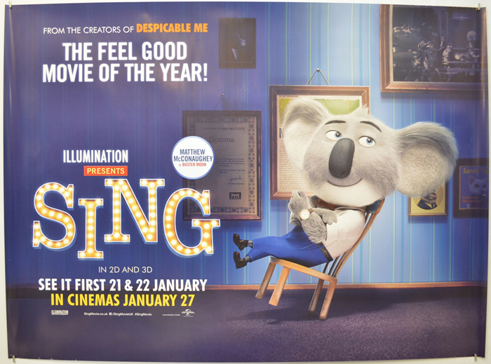 Sing <p><i> (Buster Moon Version) </i></p> - Original Cinema Movie ...