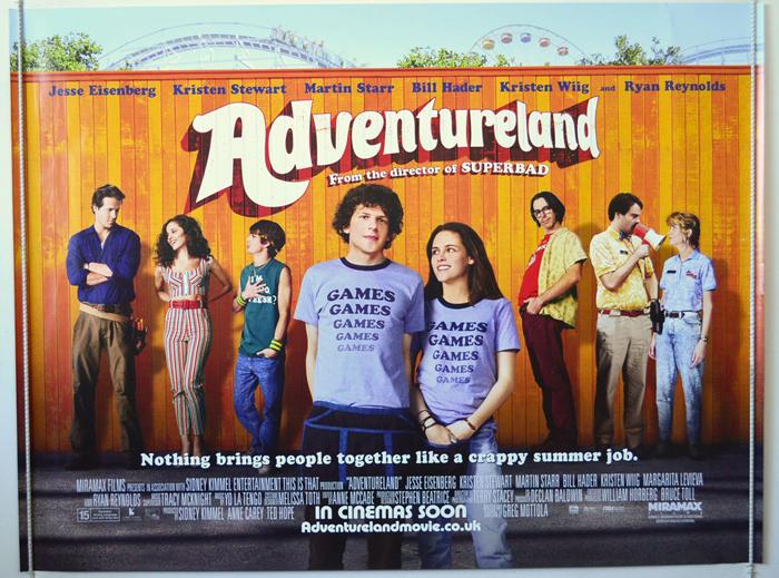 Adventureland - Original Cinema Movie Poster From pastposters.com British  Quad Posters and US 1-Sheet Posters