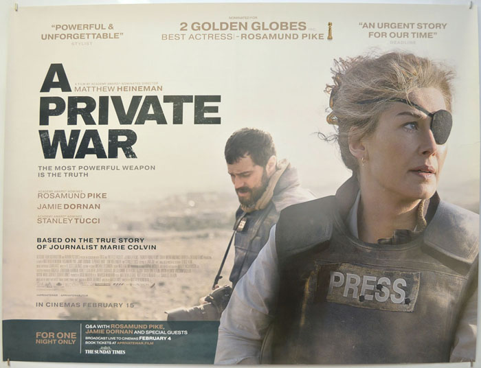 A Private War - Original Cinema Movie Poster From pastposters.com ...