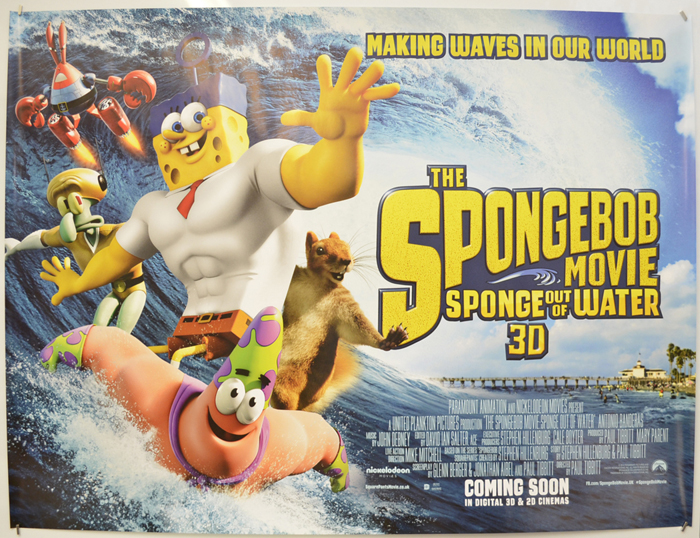 Spongebob Movie : Sponge Out Of Water - Original Cinema Movie Poster From  pastposters.com British Quad Posters and US 1-Sheet Posters
